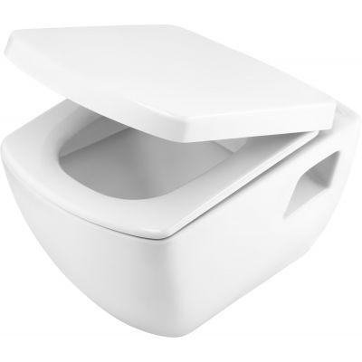 Zestaw Deante Anemon miska WC wisząca z deską wolnoopadającą białą (CDZ6WPW, CDZ6DOZ)