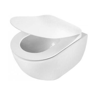 Zestaw Deante Peonia Zero miska WC wisząca z deską wolnoopadającą Slim (CDE6ZPW, CDE6SOZ)