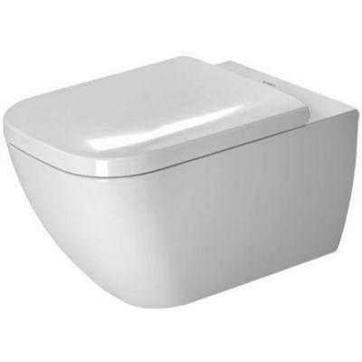 Duravit Happy D.2. miska WC wisząca Rimless WonderGliss biała 22220900001