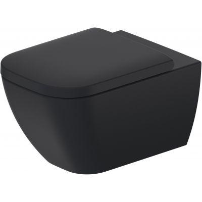 Duravit Happy D.2. miska WC wisząca Rimless WonderGliss antracyt/antracyt mat 22220989001