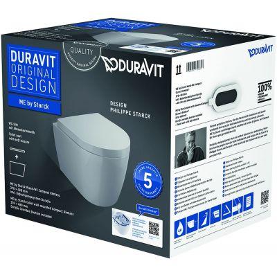 Duravit ME by Starck miska WC wisząca Rimless z deską wolnoopadającą białą 45300900A1