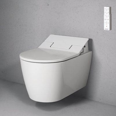 Zestaw Duravit ME by Starck miska WC z deską myjącą SensoWash Slim białą (2529590000, 611000002004300)