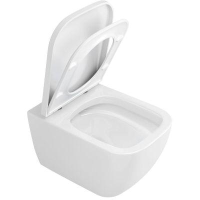 Excellent Ness miska WC bez kołnierza wisząca z deską wolnoopadającą biała CENL.3509.500.WH