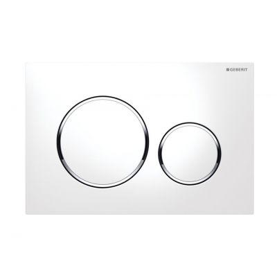 Geberit Sigma20 przycisk spłukujący biały/chrom błyszczący/biały 115.882.KJ.1