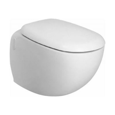 Zestaw Koło Ego Rimfree Reflex miska WC wisząca z deską wolnoopadającą biała (K13122900, K10112000)