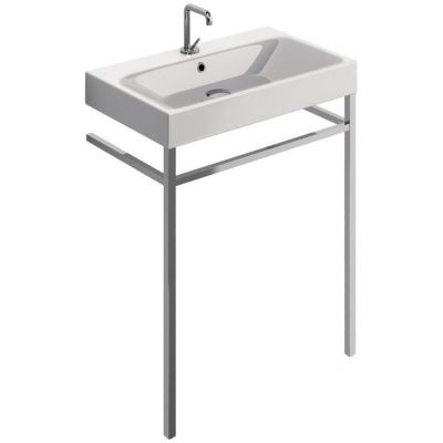 Kerasan Cento nogi do umywalki z relingiem chrom 9121K1