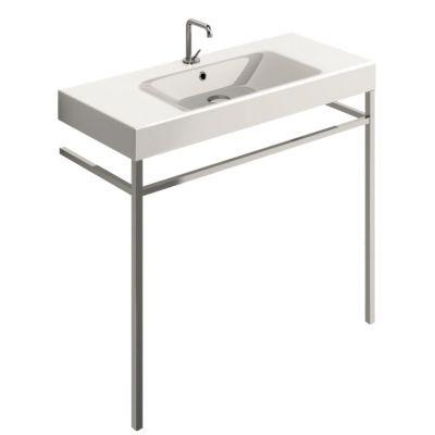 Kerasan Cento nogi do umywalki z relingiem chrom 9152K1