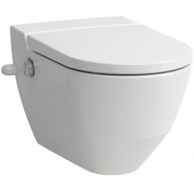 Laufen Navia miska WC wisząca myjąca z deską wolnoopadającą biała H8206014000001