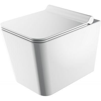 Omnires Boston zestaw miska WC z deską wolnoopadającą biały połysk BOSTONMWBP