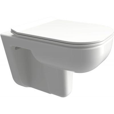 Omnires Denver zestaw miska WC z deską wolnoopadającą biały połysk DENVERMWBP