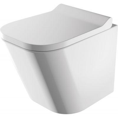 Omnires Fontana miska WC bezkołnierzowa z deską wolnoopadającą wisząca biała FONTANAMWBP