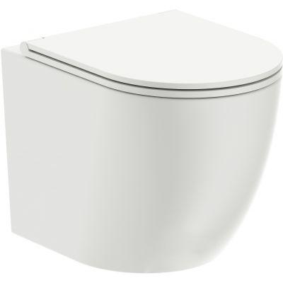 Omnires Ottawa miska WC wisząca bez kołnierza z deską wolnoopadającą biała OTTAWAMWBP