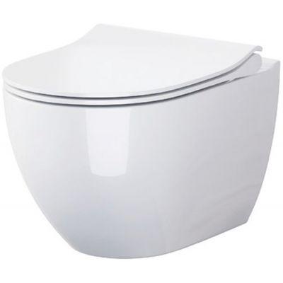 Opoczno Urban Harmony miska WC wisząca CleanOn z deską wolnoopadającą Slim biała K701-256