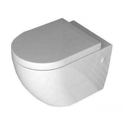 Rea Carlo Mini Rimless miska WC wisząca z deską wolnoopadającą ABS/ZM biały REA-C1000
