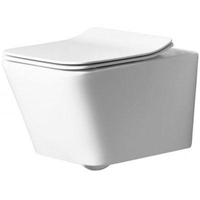 Rea Ramon miska WC wisząca z deską wolnoopadającą biała REA-C8536