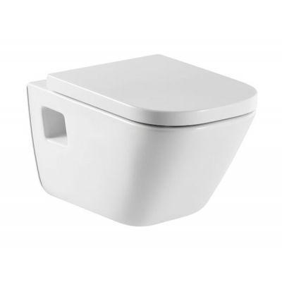 Zestaw Roca Gap miska WC wisząca z deską wolnoopadającą biała (A346477000, A80148200U)