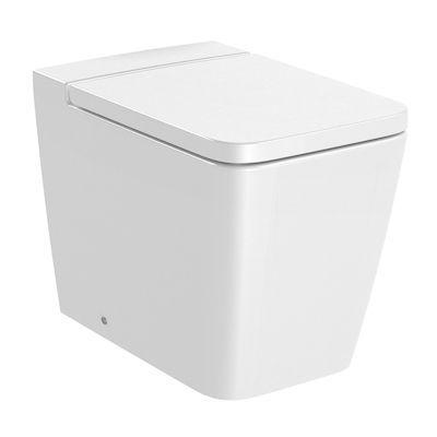 Roca Inspira Square miska WC Rimless stojąca biała A347537000