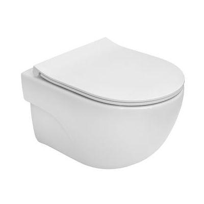 Roca Meridian Compacto miska WC wisząca Rimless z deską wolnoopadającą slim biała A34H242000