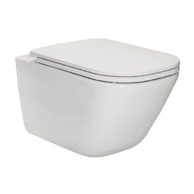 Roca Gap miska WC wisząca Rimless z deską sedesową wolnoopadającą Slim biała A34H470000