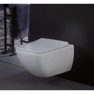 Villeroy & Boch Venticello Combi-Pack miska WC wisząca bez kołnierza z deską wolnoopadającą Weiss Alpin 4611RL01