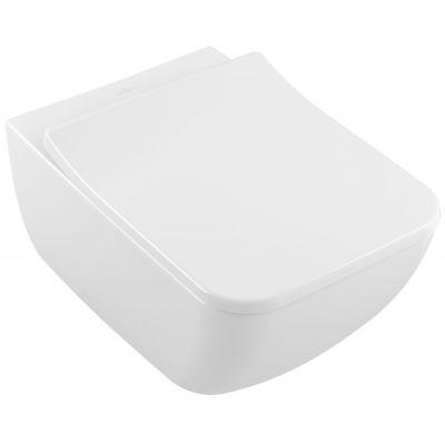 Villeroy & Boch Collaro Combi-Pack miska WC wisząca z deską sedesową wolnoopadającą CeramicPlus Weiss Alpin 4626RSR1