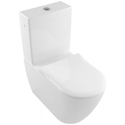 Villeroy & Boch Subway 2.0 miska WC kompaktowa stojąca bez kołnierza Weiss Alpin 5617R001