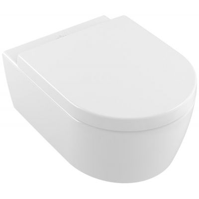 Villeroy & Boch Avento Combi-Pack miska WC wisząca z deską wolnoopadającą Weiss Alpin 5656HR01