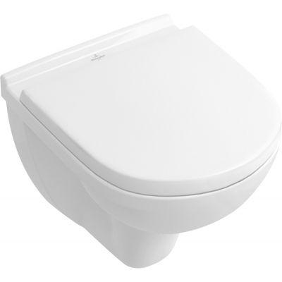 Villeroy & Boch O.Novo combi-Pack miska WC wisząca CeramicPlus z deską wolnoopadającą Weiss Alpin 5688HRR1