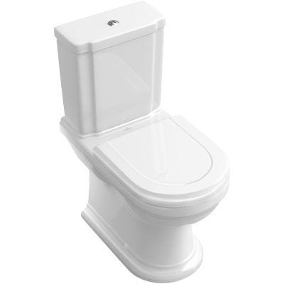 Villeroy & Boch Hommage miska WC kompaktowa stojąca CeramicPlus Weiss Alpin 666210R1