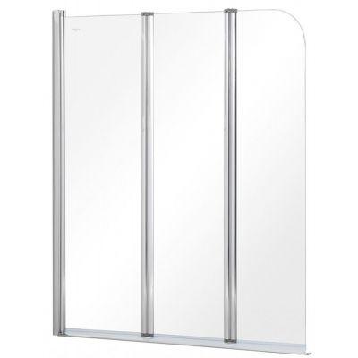 Besco Prime 3 parawan nawannowy 120x140 cm trzyczęściowy szkło przezroczyste PNP-3S
