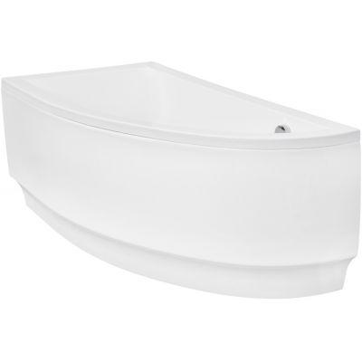 Zestaw Besco Praktika wanna narożna 150x70 cm asymetryczna lewa z obudową (#WAP150NL, OAP150NL)