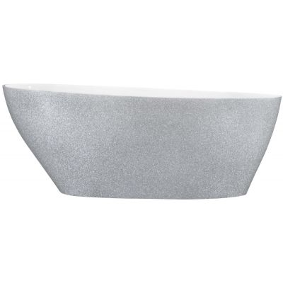 Besco Goya Glam XS wanna wolnostojąca 142x62 cm owalna biała/srebrna #WMD-140-GS