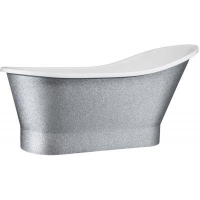 Besco Gloria wanna wolnostojąca 160x68 cm biała/srebrna #WMD-160-GLS