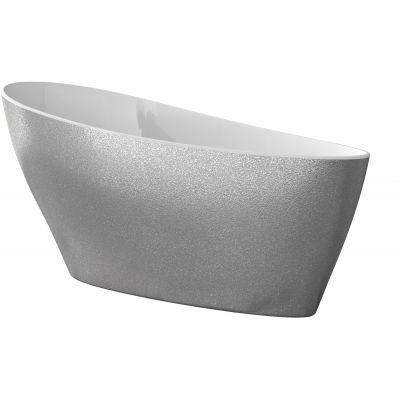 Besco Keya wanna wolnostojąca 165x71 cm owalna biała/srebrna #WMD-165-KS