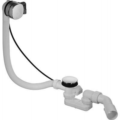 Duravit zestaw przelewowo-odpływowy z napełnianiem wody Quadroval chrom 791222000001000