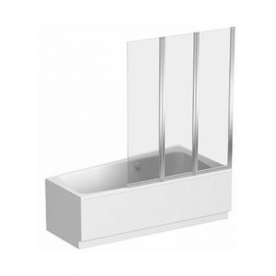 Koło Split parawan nawannowy 120 cm 3-częściowy prawy szkło przezroczyste GPNA12222003R