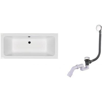 Zestaw Koło Modo wanna prostokątna 170x75 cm z kompletem odpływowo-przelewowym Oltens Fusa (XWP1171000, 03002100)