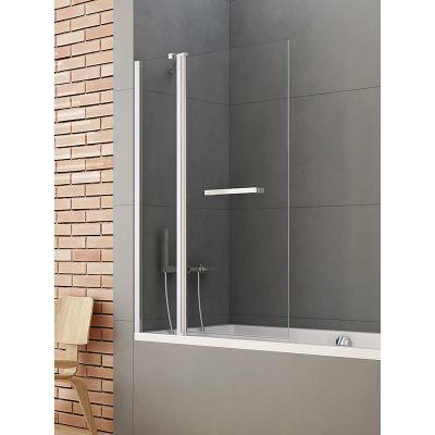 New Trendy New Soleo parawan nawannowy 120x140 cm dwuczęściowy szkło przezroczyste P-0027
