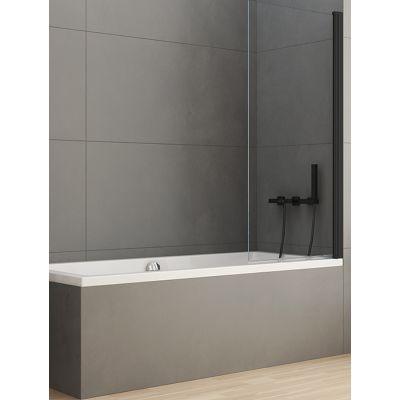 New Trendy New Soleo Black parawan nawannowy 90x140 cm szkło przezroczyste P-0040