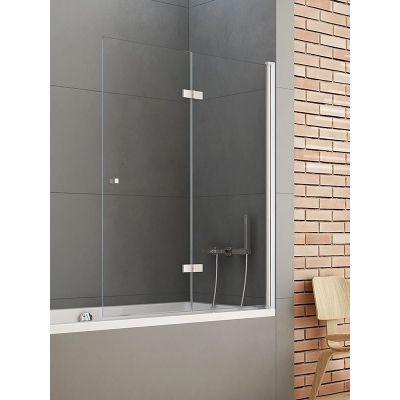 New Trendy New Soleo parawan nawannowy 120 cm prawy szkło przezroczyste P-0031