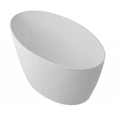 Omnires Marble+ Siena wanna wolnostojąca biały połysk SIENAWWBP
