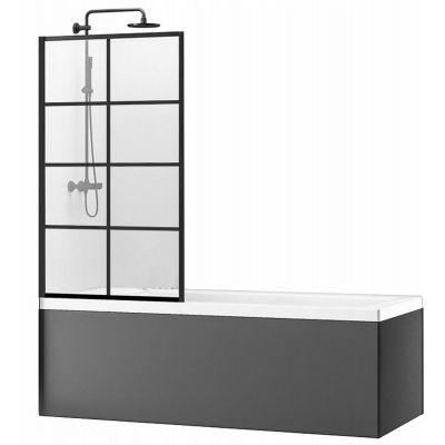 Rea Lagos-1 Fix parawan nawannowy 70 cm szkło przezroczyste REA-K4560