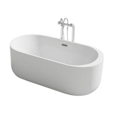 Rea Molto wanna wolnostojąca 170x80 cm owalna biała REA-W0902