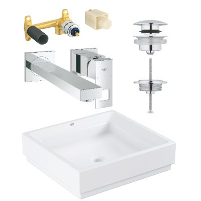 Zestaw Grohe Cube Ceramic 3 (3948100H, 23447000, 23200000, 65807000)