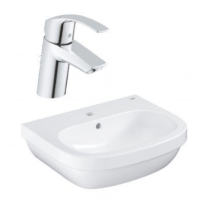 Zestaw Grohe Euro Ceramic umywalka z baterią stojącą Eurosmart New (39336000, 33265002)