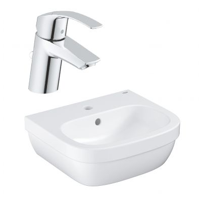 Zestaw Grohe Euro Ceramic umywalka z baterią stojącą Eurosmart New (39324000, 33265002)