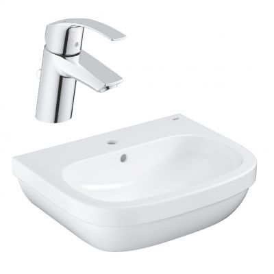Zestaw Grohe Euro Ceramic umywalka z baterią stojącą Eurosmart New (39335000, 33265002)