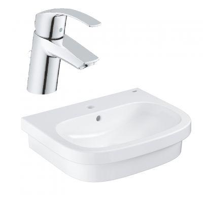 Zestaw Grohe Euro Ceramic umywalka z baterią stojącą Eurosmart New (39337000, 33265002)