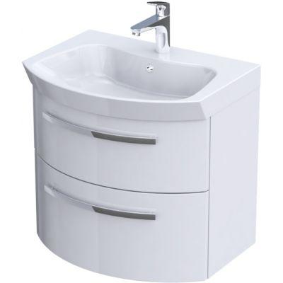 Zestaw Oristo Flow umywalka z szafką 65 cm biały/połysk (OR38SD2S651, UMEFL6592)