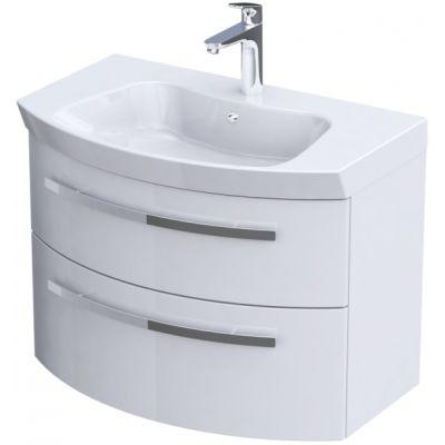 Zestaw Oristo Flow umywalka z szafką 80 cm biały/połysk (OR38SD2S801, UMEFL8092)
